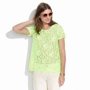 Neon Lace Top short sleeve