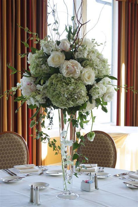 tall green wedding centerpiece  wedding centerpieces