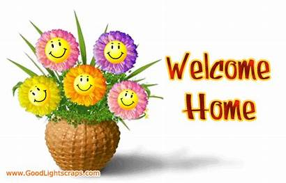 Welcome Graphics Animated Flowers Smiley Clipart Glitter