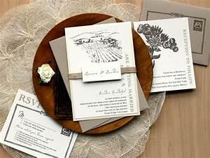 Rustic wedding invitations burlap wedding invitations for Elegant tuscan wedding invitations