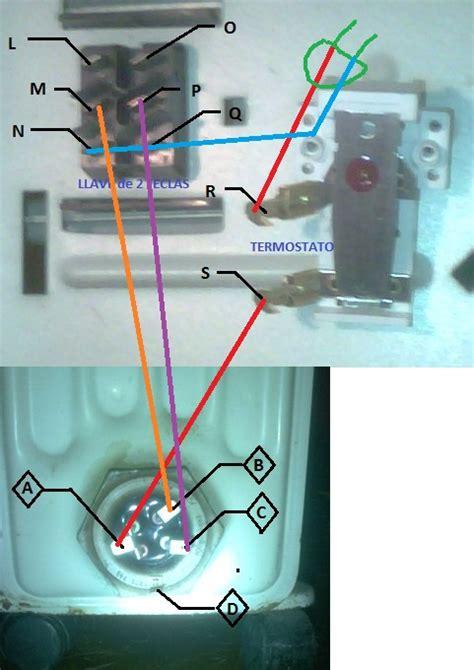 estufa electrica radiador como conectar cables circuito yoreparo