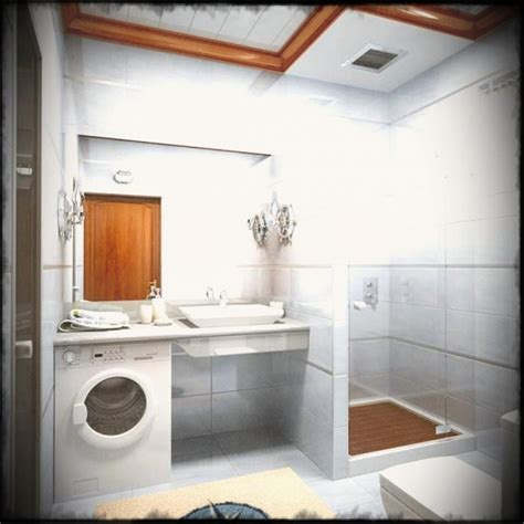Simple Bathroom Designs For Small Spaces by Small Bathroom With Washing Machine Small Room