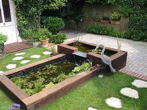 Jardin Avec Bassin : bassin de jardin design deco jardin gravier maison email ~ Melissatoandfro.com Idées de Décoration