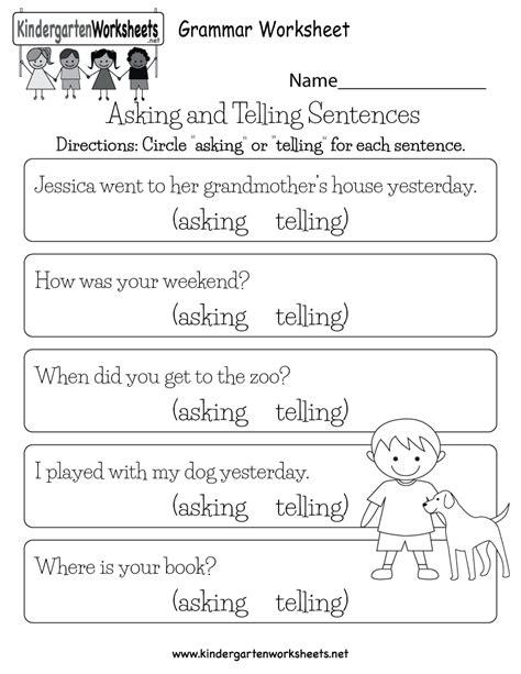 english comprehension worksheet  kindergarten