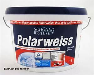 Schöner Wohnen Polarweiss : sch ner wohnen polarweiss matt f r innen 1 l schenken ~ Watch28wear.com Haus und Dekorationen