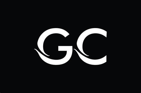 gc monogram logo design  vectorseller thehungryjpegcom