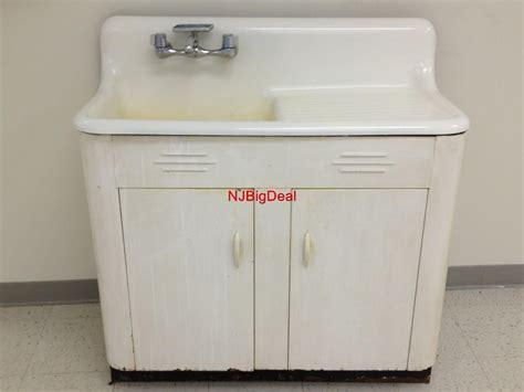 enamel kitchen sinks uk details about vintage antique white enamel cast iron