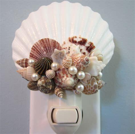 sea shells decorations beach decor seashell night light nautical decor shell nite lite on luulla