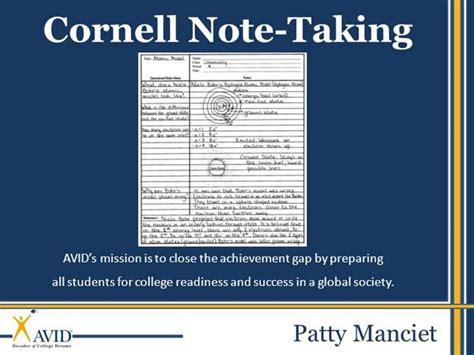 cornell notes powerpoint template cornell notes pueblo high school authorstream