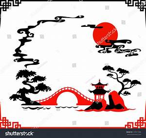 Vector Illustration Of Abstract Traditional Japanese ...