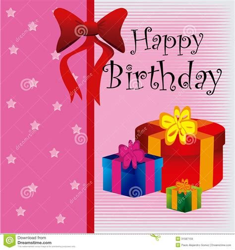 happy birthday gifts royalty  stock images image