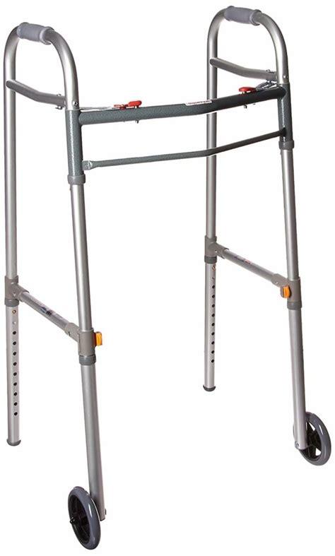 walker walkers narrow seniors drive medical wheels folding universal amazon button deluxe platform attachment adult nitro doorways crutch spaces gray
