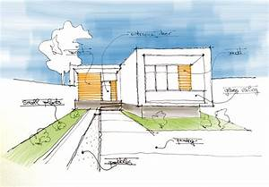 Minimalistic House Sketch Drawing Architecture Diagrams