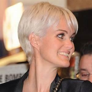 Coiffure Blonde Courte : coupe courte blond platine ~ Melissatoandfro.com Idées de Décoration
