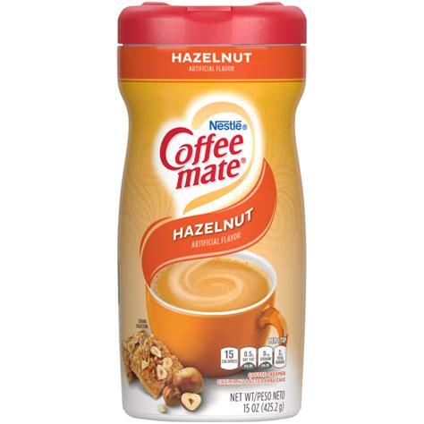 I've been enjoying coffee mate fat free hazelnut creamer in my coffee every morning ingredient in the hazel nut fat free mate. Coffee-Mate Hazelnut Coffee Creamer - SlikWorld.dk