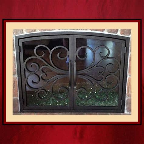 wrought iron fireplace screen door northshore fireplace