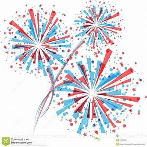 Red White Blue Fireworks Clipart (54+)