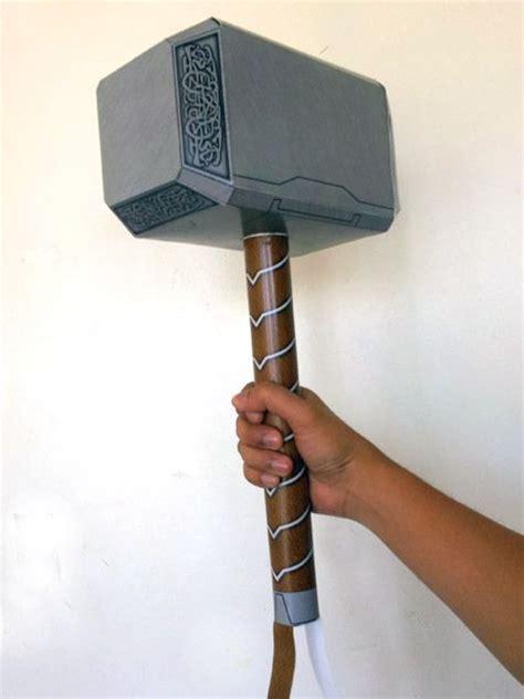 thor hammer papercraft avengers version