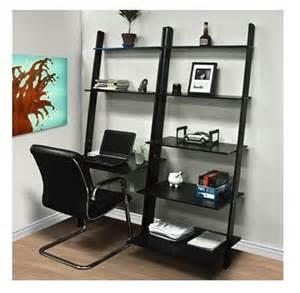 leaning shelf ladder bookcase bookshelf computer desk office furniture home wood ebay