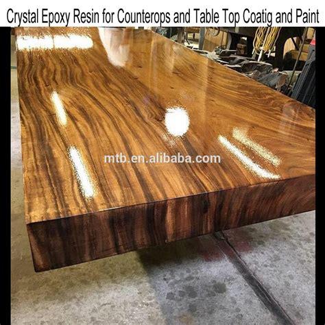 cuisine avec comptoir résine époxy pour le bois table et meubles revêtement et