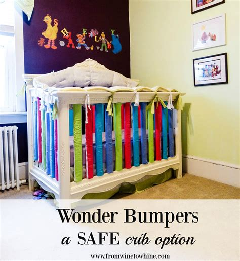 safe crib bumpers baby bumpers a safe option from wine to whine