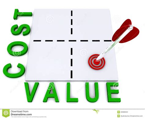 Cost And Value Illustration Stock Photos - Image: 20086353