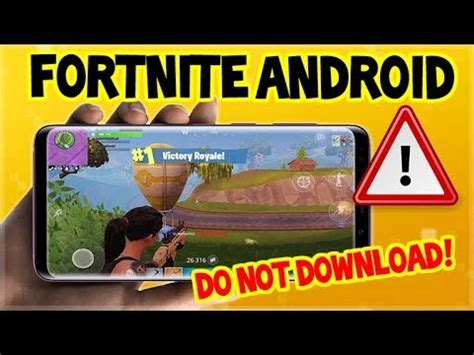fortnite mobile  android    warning