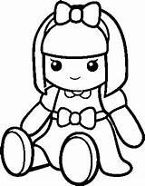 Doll Coloring Boneca Rag Desenho Pano Pretty Pngkey sketch template