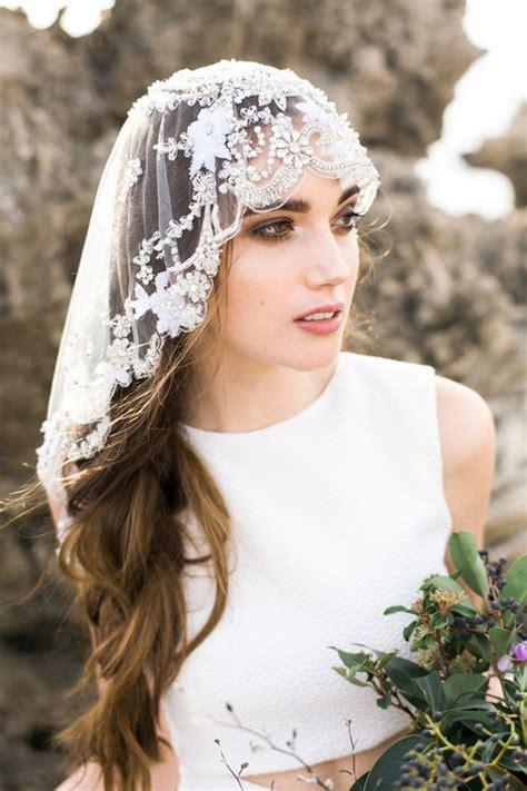 mantilla style veil wedding