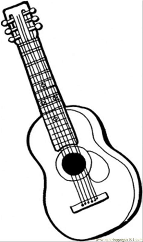 coloring pages instruments guitar instrument printable string music musical print bass drawing colouring sheets getcoloringpages sheet violin books outline adult
