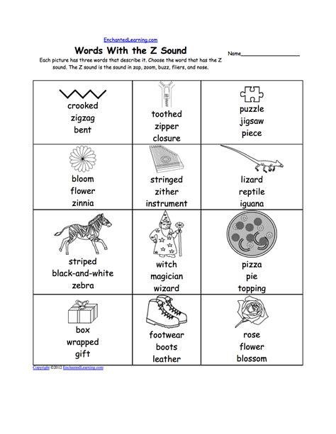 letter z alphabet activities at enchantedlearning 619 | worksheet
