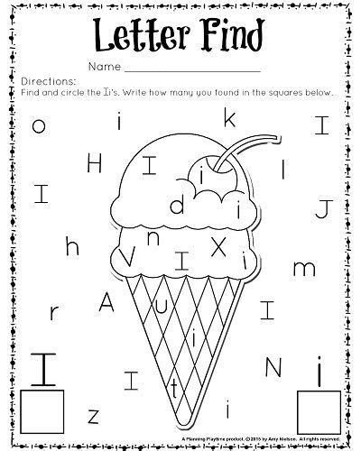 Cute Letter Find Worksheets With A Freebie  Worksheets For Kids  Pinterest Preschool