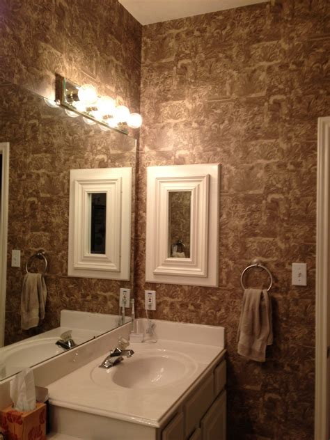 Designer Bathroom Wallpaper by Using Wallpaper In Bathrooms Gallery