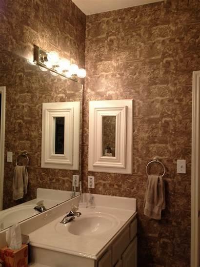 Bathroom Master Bathrooms Vinyl Paint Wallpapered Designs