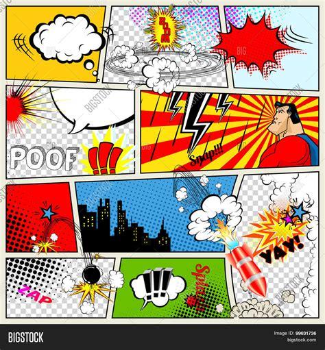comic templat comics template vector photo free trial bigstock