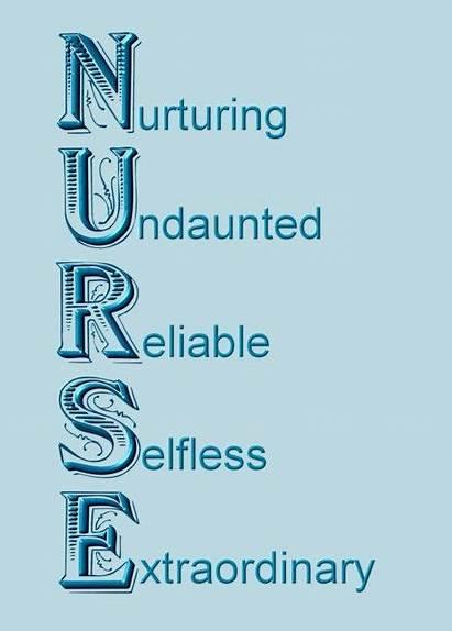 Acronym Nurse Thank Card Nurses Happy Nursing