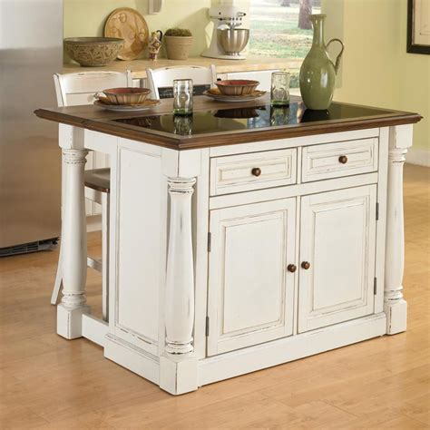 kitchen islands shop home styles white midcentury kitchen island with 2