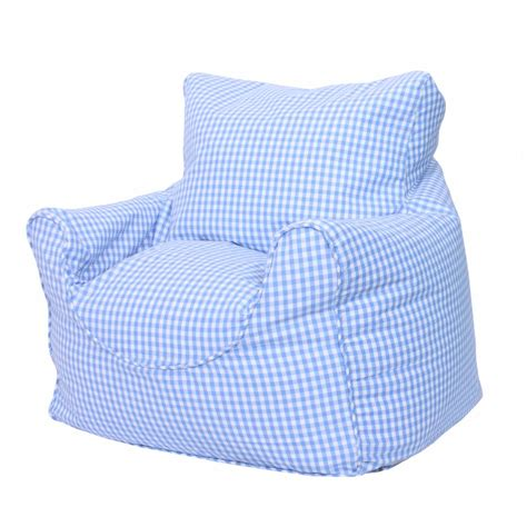 blue gingham beanchair cover childrens bedding