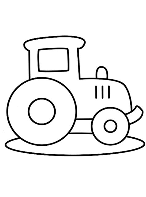 Kleurplaat Jongens Peuter by Kleurplaat Tractor Kleurplaten Tractor Easy Drawings