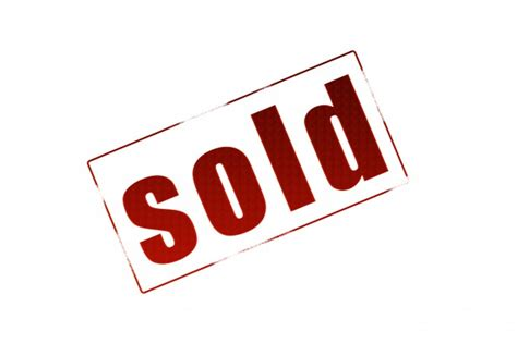 Free Sold Sign White Background