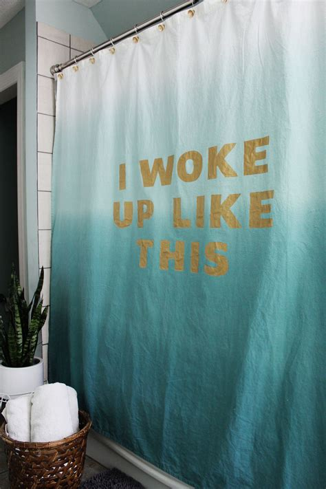 statement shower curtain diy a beautiful mess