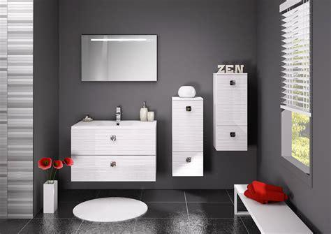salle de bain moderne gris salle de bain blanc et gris