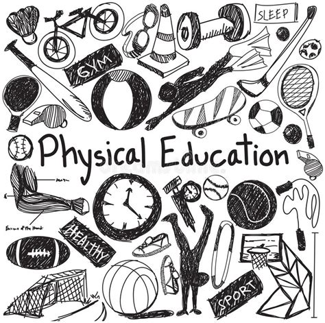 Physical Education Exercise And Gym Education Chalk
