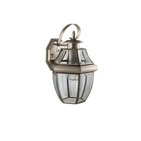 hton bay brushed nickel 1 light outdoor wall lantern