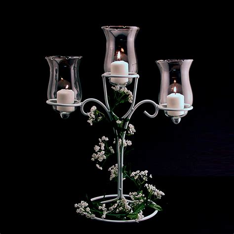 three candle holder ifavor123 three tier candle holder white wire diy