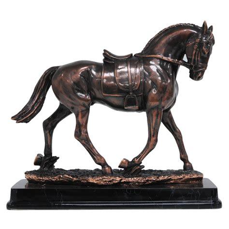walking spanish horse statue antique bronze finish