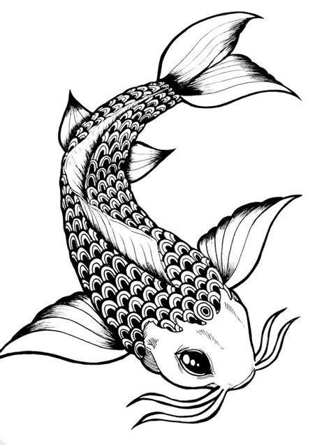 Simple Koi Outline | Simple Koi Fish Drawings Koi fish by