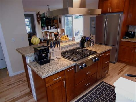 kitchen island with range remodeled kitchen island with commercial gas range top yelp