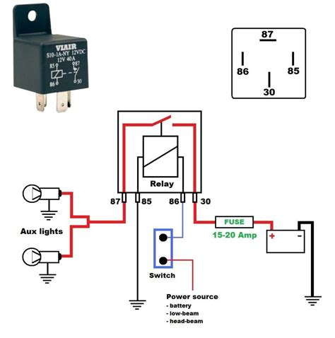 Simple Headlight Relay Wiring by Horn Relay Simple Wiring Within Horn Diagram With Relay