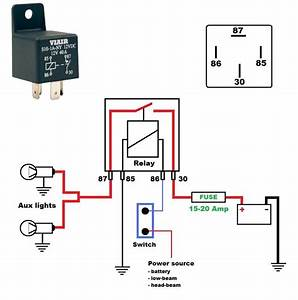 Horn Relay Simple Wiring Within Horn Diagram With Relay Best Of